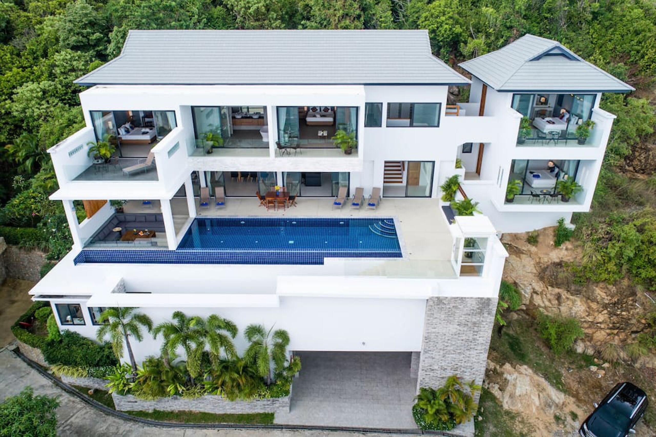 Beach View Villa from AIr lg