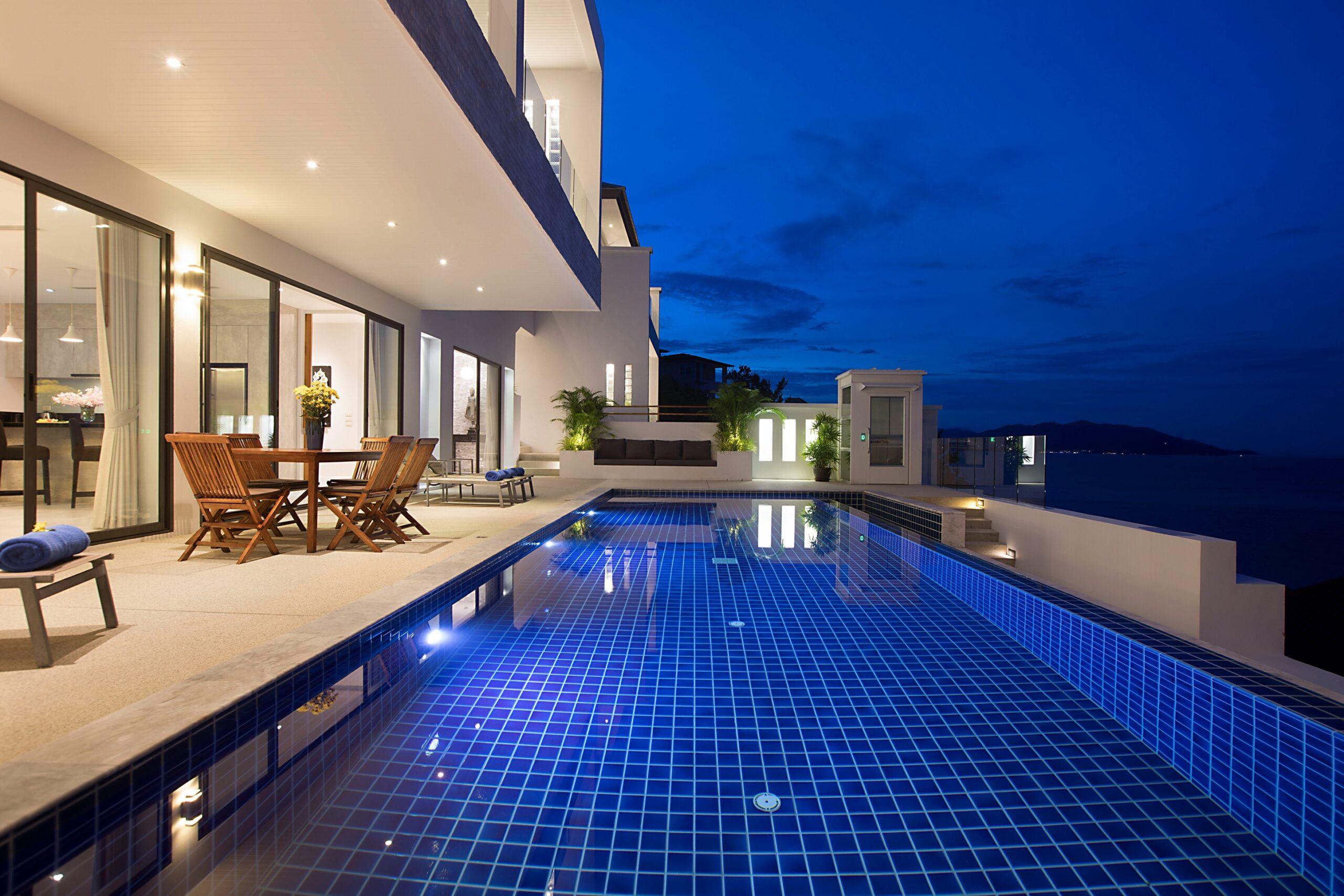 Pool Terrace Night